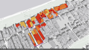 Screenshot of LPC 3D Map of Phase 1 of the Morningside Heights Historic District